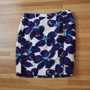 Ann Taylor Loft Purple pencil skirt